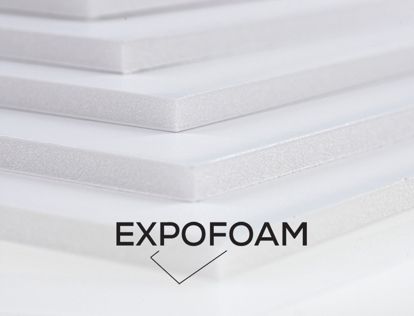 Bilde av Expofoam White 1-sidig lim, 5 mm, 140 x 300 cm
