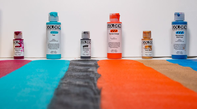 Golden Fluid - Flytende akrylmaling i kunstnerkvalitet