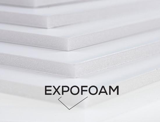 Bilde av Expofoam White 1-sidig lim, 5 mm, 70 x 100 cm.