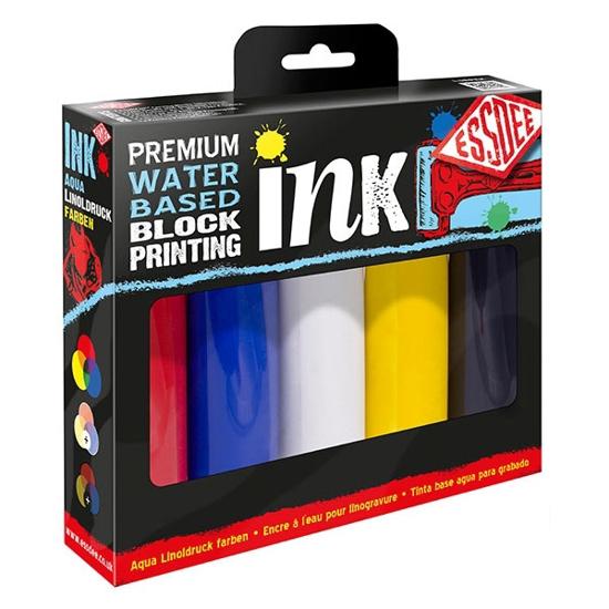 Bilde av Linofarge sett Primærfarger 5x100ml