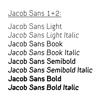 Bilde av JACOBS SANS 1+2
