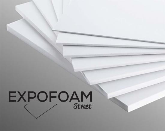 Bilde av Expofoam Street 5mm, 70 x 100 cm - Hvit